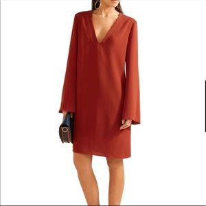 Ulysses Red Oak Crepe career dress in size Small